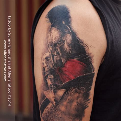leonidas tattoo 300 movie by sunny bhanushali at aliens