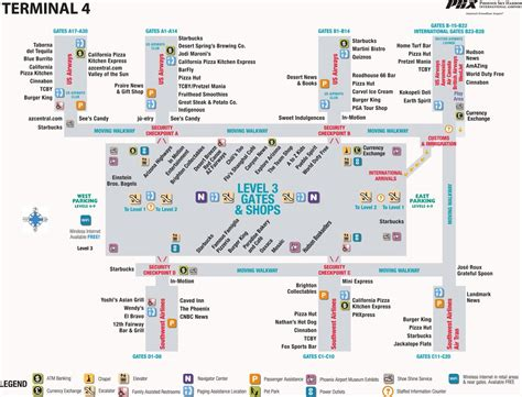 phx airport map sky harbor international airport maplets
