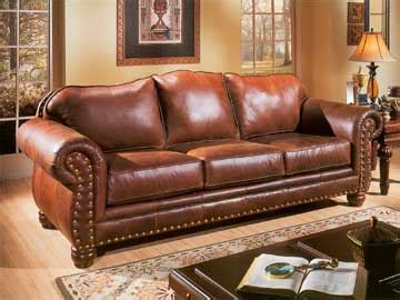 Pigmented Leather Sofa by Parr S Furniture Leather Upholstery Follow Your Neighbors