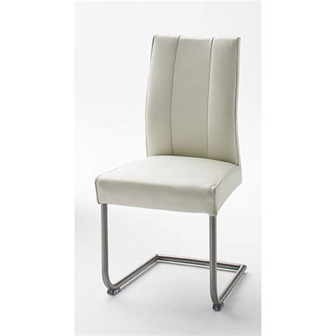 White Faux Leather Dining Chairs Alamona 1 Dining Chair In White Faux Leather 25055