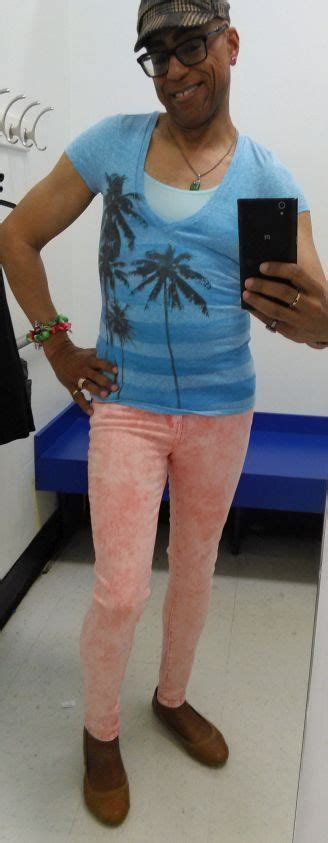 femboy style blue top for spring femboy outfit love those skinny jeans