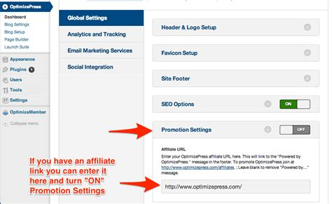 powered by article dashboard create message board how to remove the powered by optimizepress footer message