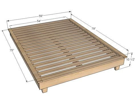 dimensions size bed frame size bed frame dimensions platform bed plans