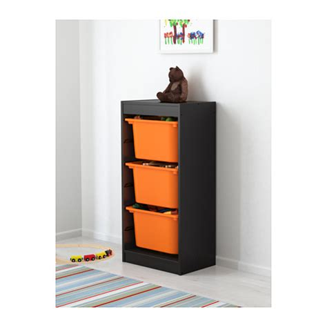 children s storage units combinations ikea trofast storage combination black orange 46x30x94 cm ikea