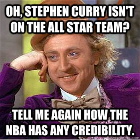Tell Me Isnt Again by Oh Stephen Curry Isn T On The All Team Tell Me