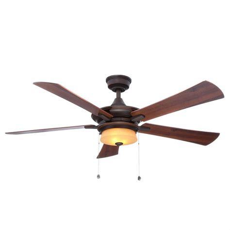 Hton Bay 4 Light Ceiling Fan Fans Bennington 52 In Bronze Ceiling Fan 10025 The Home Depot