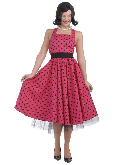 50 s polka dot dress costume 1950s clothing for