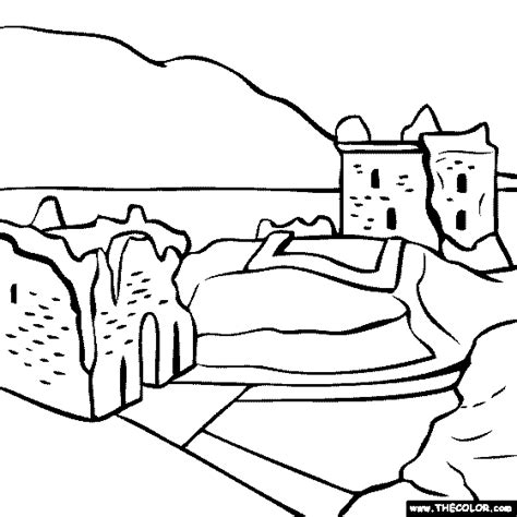 interesting loch ness scotland coloring page with loch