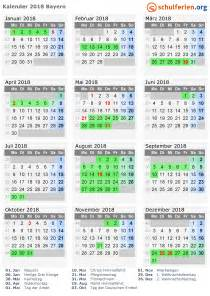 Kalender 2018 Bayern Ohne Schulferien Kalender 2018