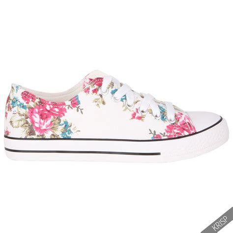 floral flat shoes womens floral plain leopard low top fashion trainers flat