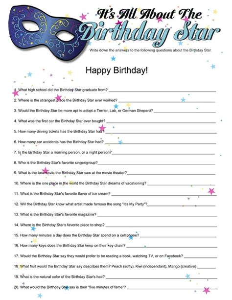 printable games for birthday party printable it s all about the birthday star funsational