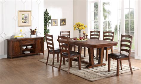 distressed dining room sets lanesboro distressed walnut dining room set from new
