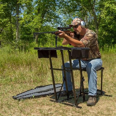 shooting bench reviews portable shooting bench with gun rest by kill shot ks sbp