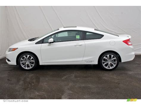 2012 Honda Civic Si Coupe by Taffeta White 2012 Honda Civic Si Coupe Exterior Photo