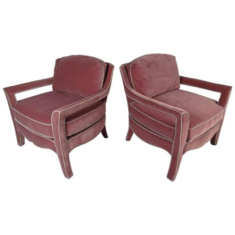 upholstered armchairs for sale pair of midcentury upholstered armchairs by paoletti for