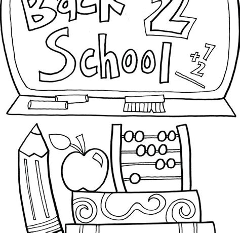 Back To School Coloring Pages For