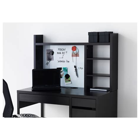 desk add on shelf micke add on unit high black brown 105x65 cm ikea