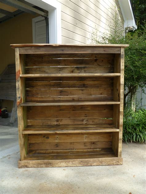 Bookcase Pallet bookcase made from pallets