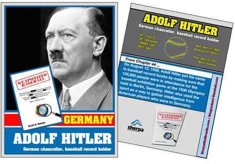 adolf hitler biography card 30 baseball books for april 16 day 28 is that a bat in