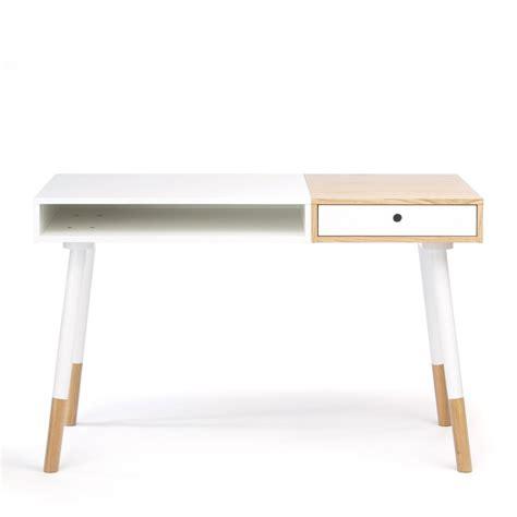 Bureau Design Blanc Sonnenblick Par Drawer Fr Bureau Blanc Et Bois