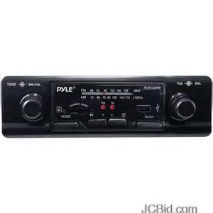 pyle plr14mpf in dash am fm mpx mp3 shaft style dual knob