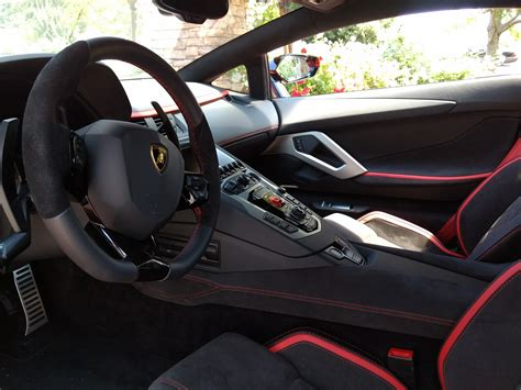 lamborghini aventador interior 2017 anyone got a picture of s trim alcantara with red trim