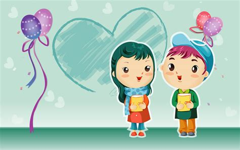wallpaper anime lucu cartoon 2blove 2bwallpapers 2b05 gambar kartun romantis