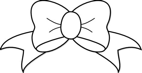 big bow coloring page black and white bow clip art at clker com vector clip