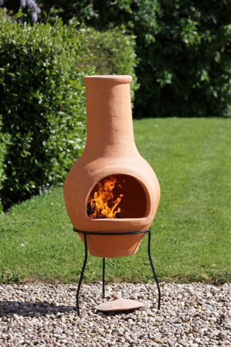 clay chimenea large terracotta chiminea patio heater