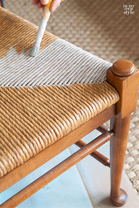 Wicker Dining Room Chair by How I Changed The Color On Rush Seat Chairs In My Own Style