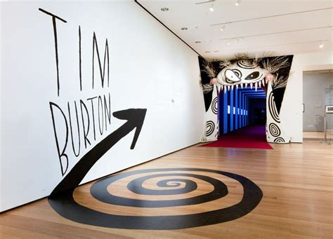design ideas moma tim burton exhibit entrance moma the department of
