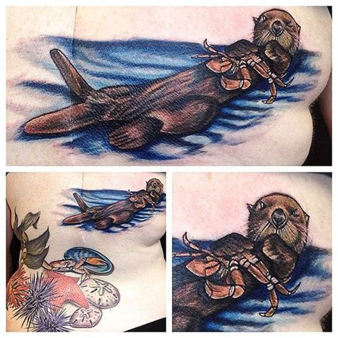 tribal otter tattoo 23 best tribal otter images on otter
