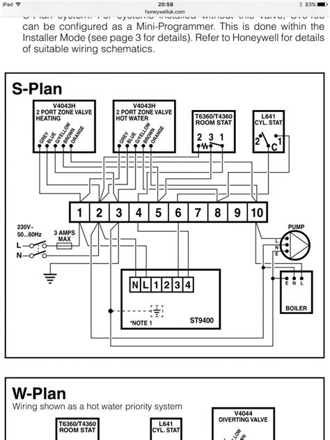 honeywell single channel programmer wiring diagram 50