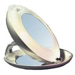 Travel Vanity Mirror Lighted Compact Magnifying Vanity Travel Makeup Mirror Ebay