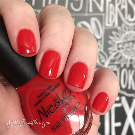 best opi polish for 60 year olds nicole by opi kourt is red y for a pedi daily