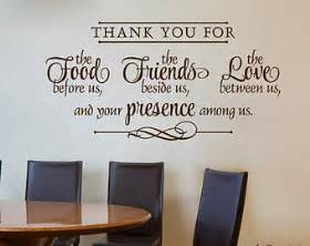 Kitchen wall decal thank you for the food friends love quote cooking