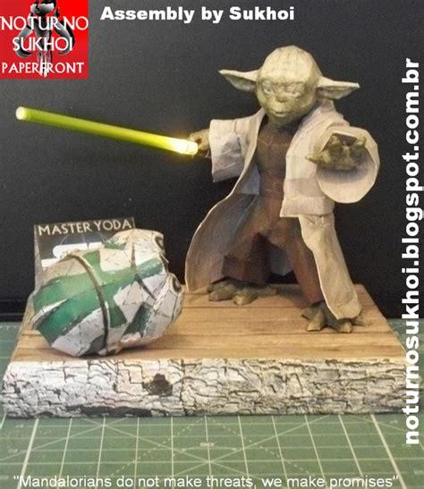 Yoda Papercraft - wars master yoda papercraft papercraft paradise