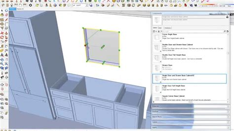 google sketchup kitchen tutorial building a kitchen with google sketchup dynamic components