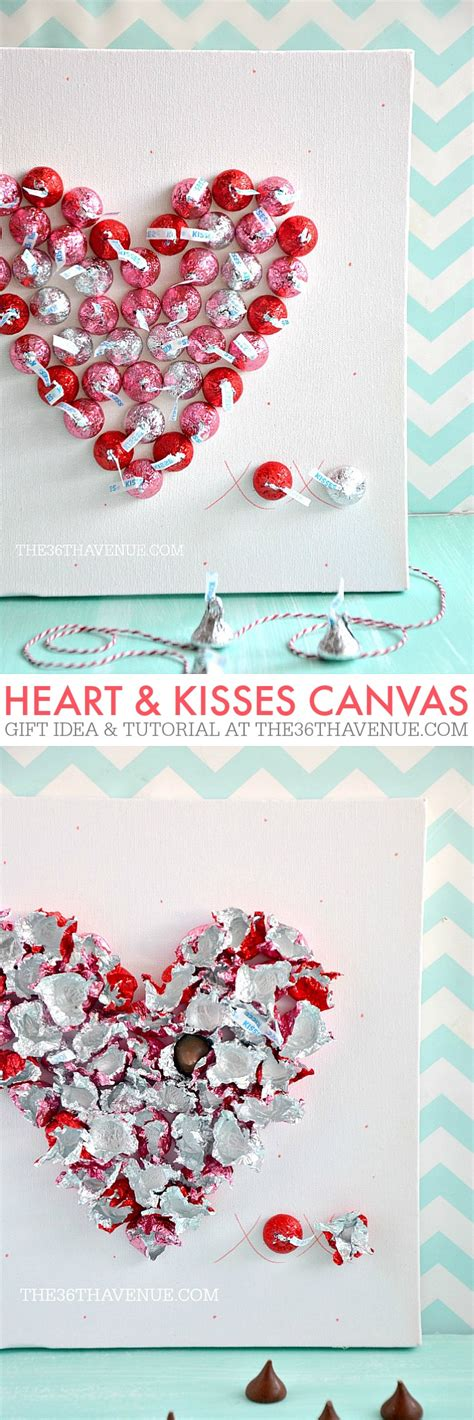 Handmade Valentines Gifts - handmade gift kisses canvas the 36th avenue