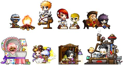 Maplestory Chairs by In Progress September Gachapon Update