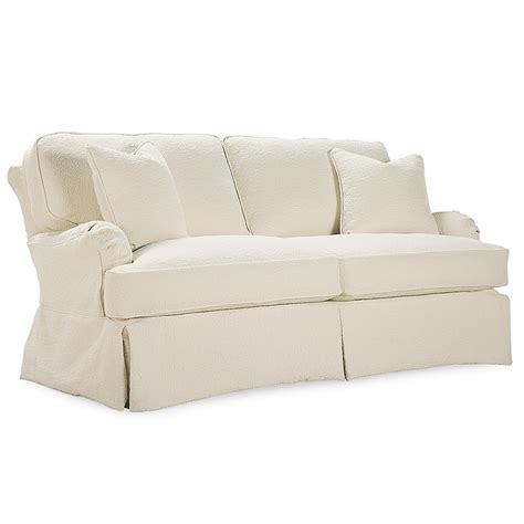 slipcovered loveseat kendal kickpleat slipcover apartment sofa luxe home company