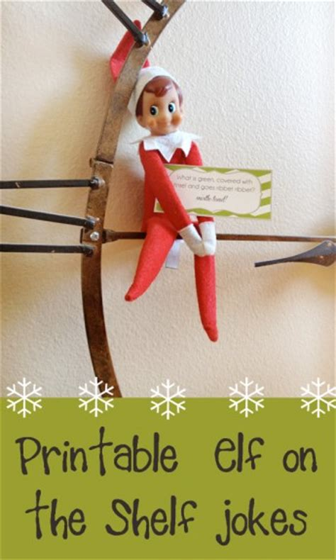 printable christmas joke cards printable elf on the shelf joke cards printables 4 mom