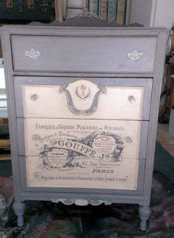 How To Modge Podge A Dresser by Antique Dresser Finished With Home Made Chalk Paint Modge