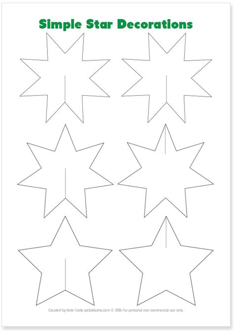 Easy To Make Christmas Star Decorations Picklebums Templates Decorations