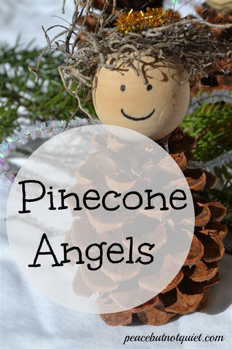 make these fun pinecone angel christmas crafts for kids