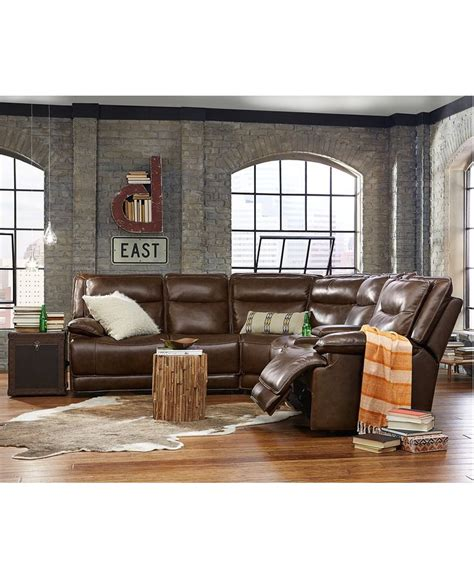 Www Macys Furniture by Joffrey Leather Power Motion Sectional Collection Furniture Macy S Macys Furniture