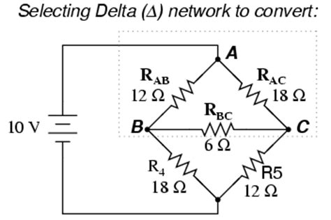 resistors connected in delta kbreee delta transforms