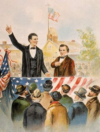 who did abraham lincoln run against lincoln douglas debate in ottawa illinois this day