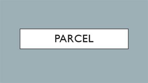 Parcel Template by Parcel
