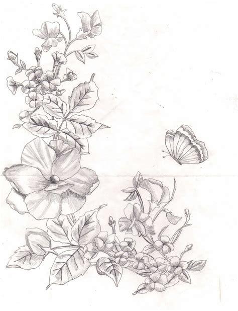 Imagenes A Lapiz Flores | dibujos de flores a lapiz imagui